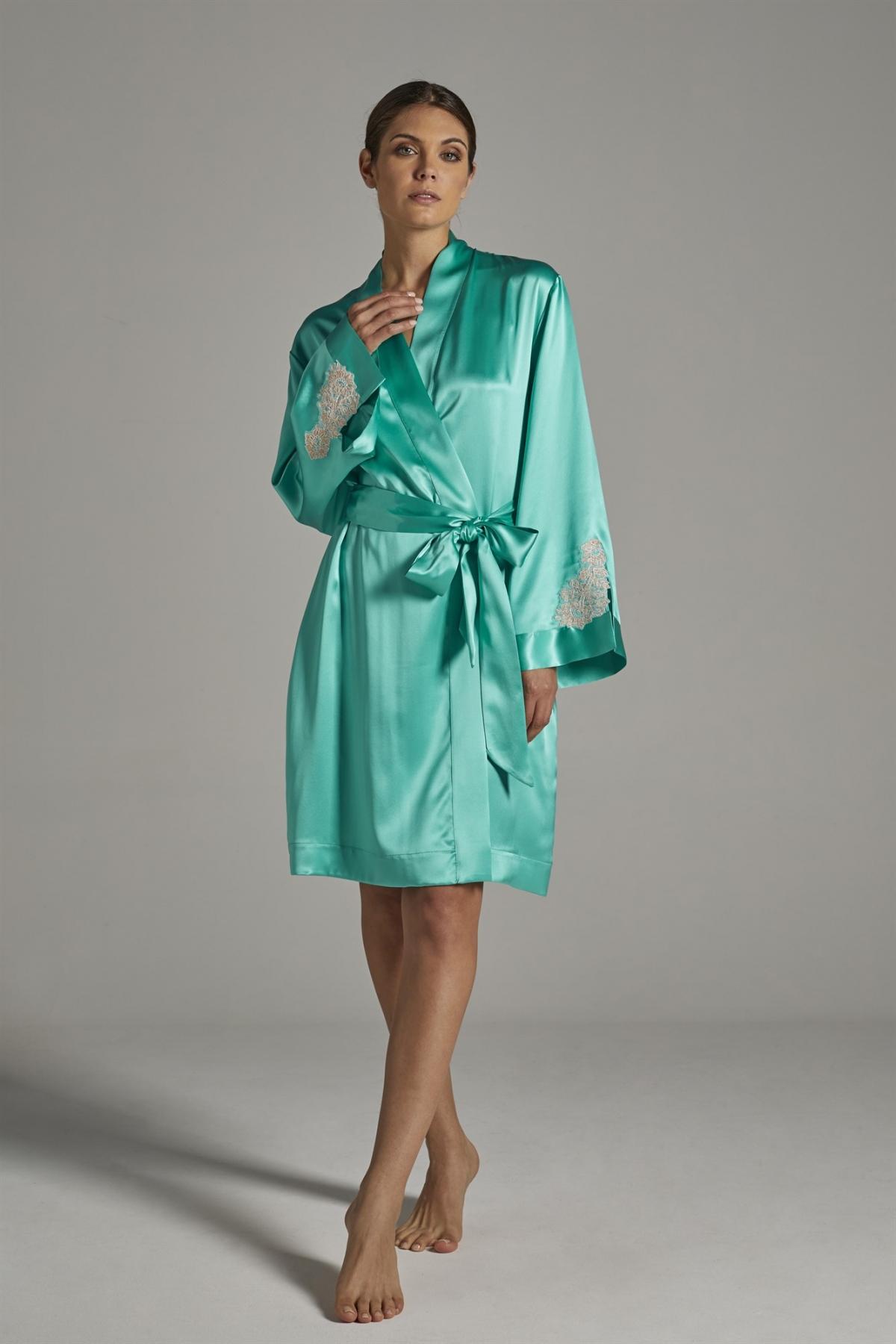 Kimono in pura seta verdiani donna