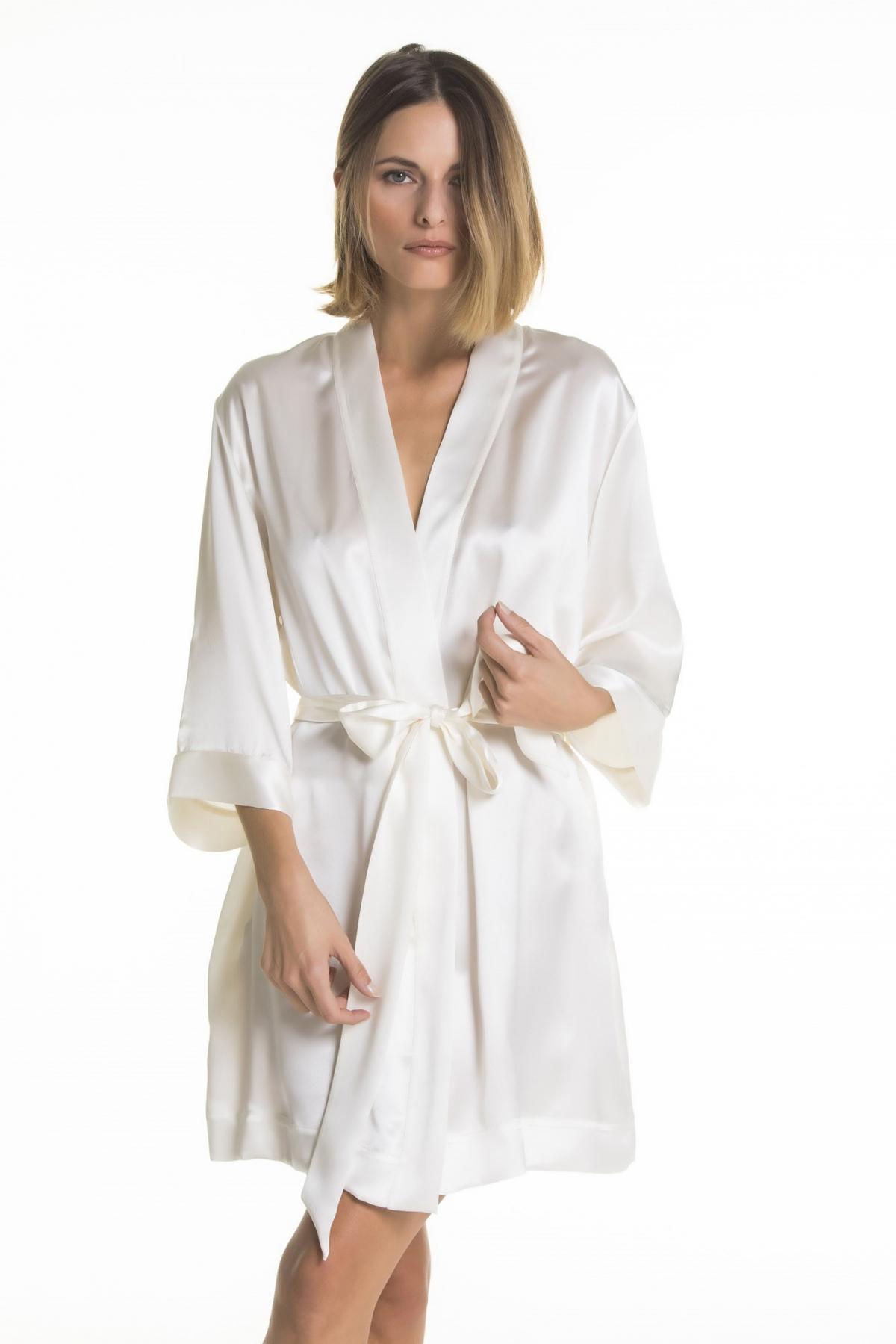 kimono pura seta verdiani donna