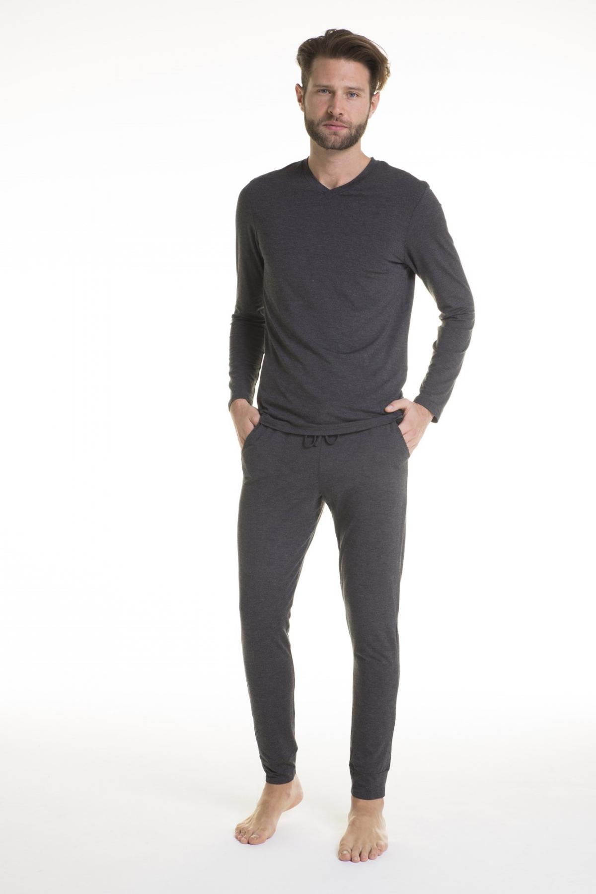 pigiama uomo modal melange manica lunga verdiani loungewear