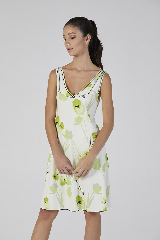 camicia spalla larga stampa fiore verdiani donna