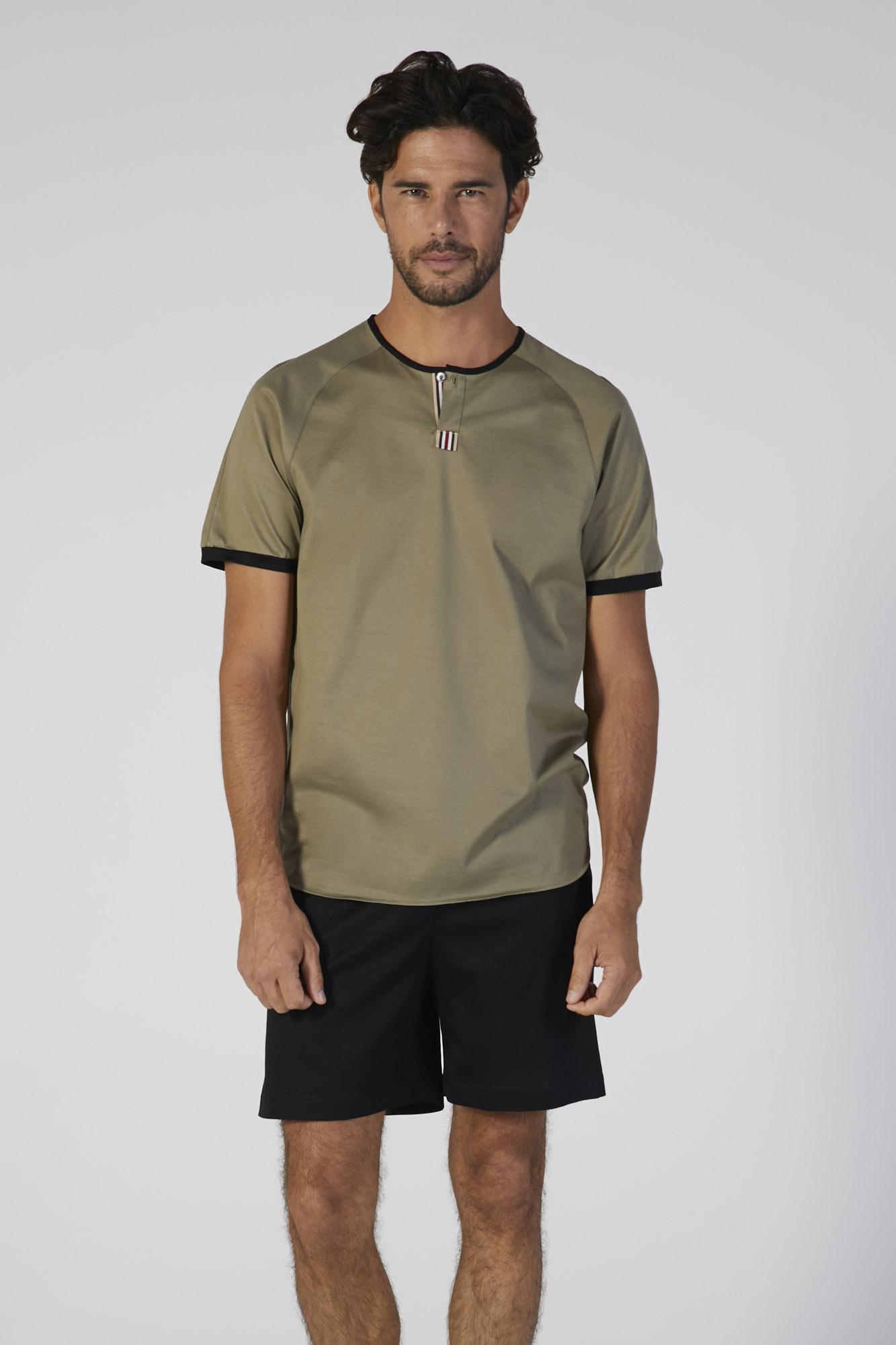 pigiama jersey cotone manica corta verdiani uomo