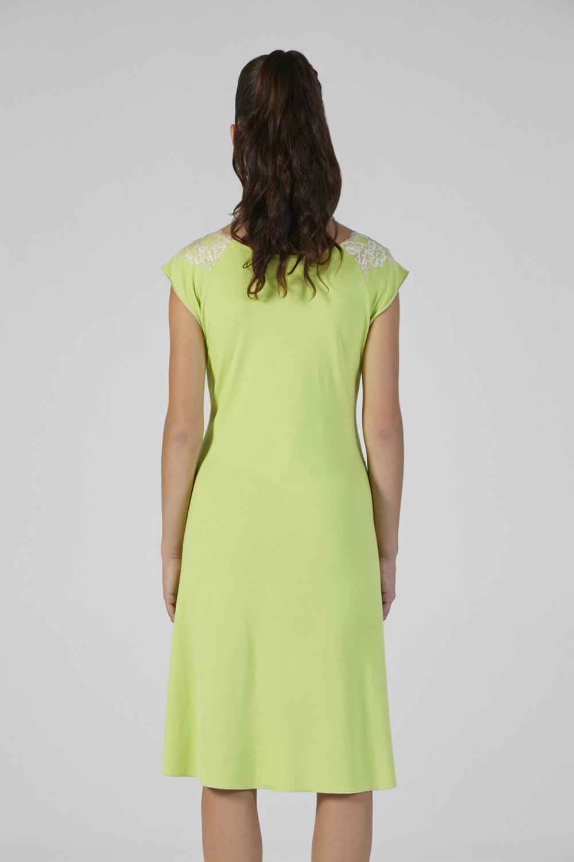 loungewear verde con pizzo donna manica corta