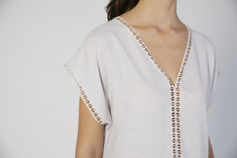 loungewear bianco donna manica corta