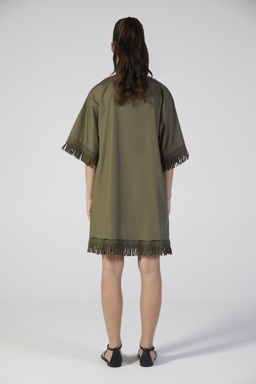copricostume verde donna manica corta